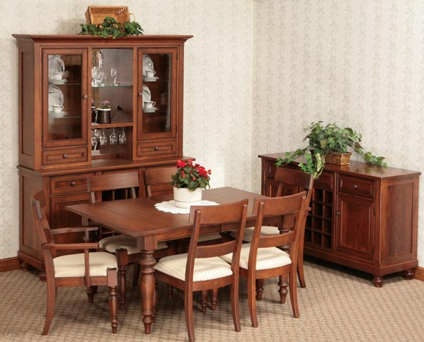 Kitchen and Dining Room Furniture Bartolottas Amish Way  : OSDiningSet from www.theamishway.com size 595 x 480 jpeg 75kB